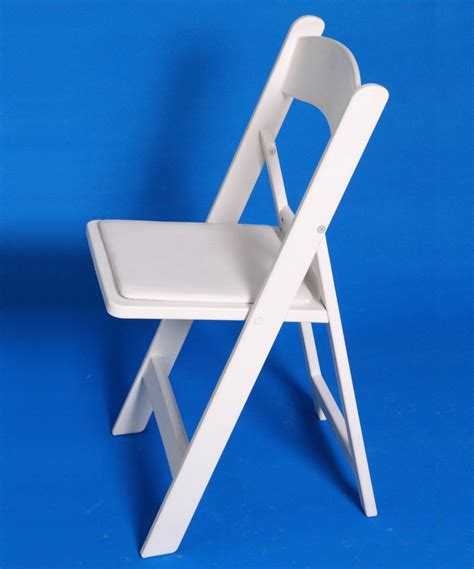 Chair Rental Iowa City Rent White Resin Folding Chair With Padded Seat Iowa City