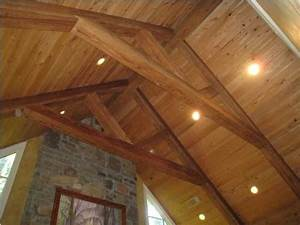 Wooden ceilings with recessed lighting design