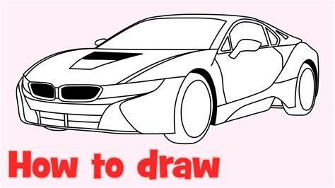 lamborghini huracan sketch how to draw a car bmw i8 step by step easy doovi