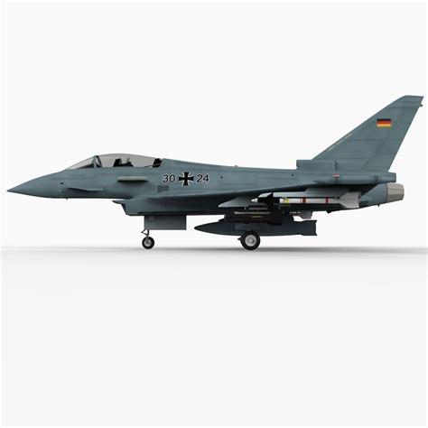Eurofighter Typhoon German Version 3d Model .max .obj .3ds