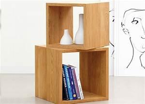 Cube En Bois Rangement : cube de rangement empiler en bois de ch ne chez ksl living ~ Melissatoandfro.com Idées de Décoration