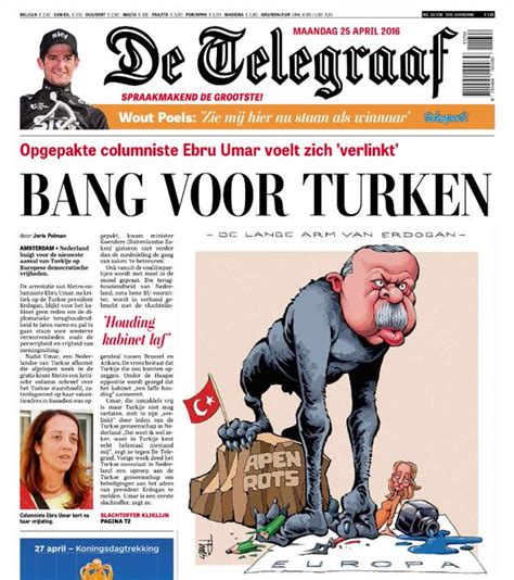 Dutch Newspaper Publishes Front Page Cartoon Mocking