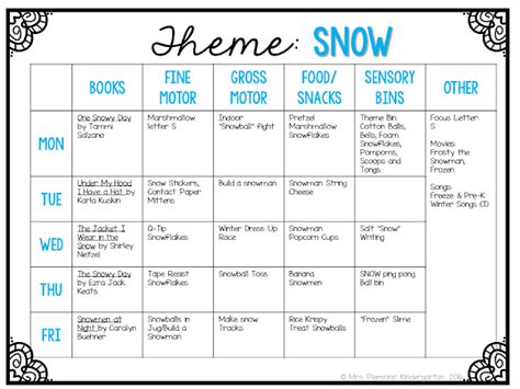 tot school tuesday snow mrs plemons kindergarten 808 | Slide2