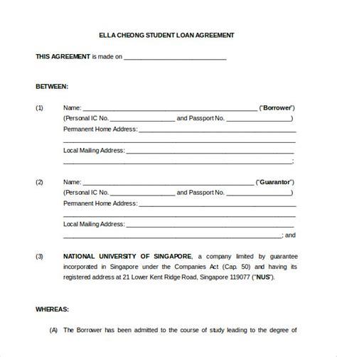Loan Contract Template Loan Contract Template Shatterlion Info