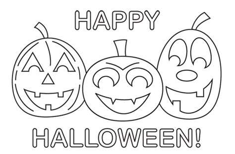 Happy Coloring Pages Printable Halloween