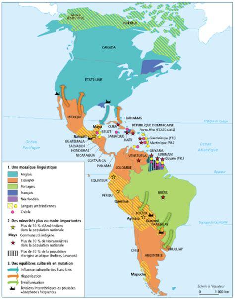 Carte Du Monde Continent Americain le continent am 233 ricain entre tensions et int 233 grations