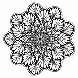 Mandala Mandalas Coloring Adults Dark Leaves Flowers Difficult Pages Printable Adult Colors Vegetation Premium Zen Stress sketch template