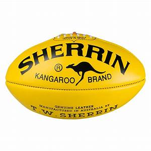 SHERRIN KB YELLOW SIZE 5 FOOTBALL - AFL Store