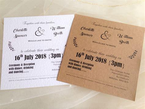 vintage wedding invitations brown kraft card wedding invites 163 1 25