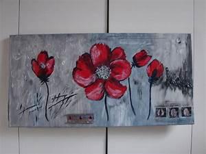 Cadre Décoratif Mural : cadre d coratif coquelicots sur fond gris d corations murales par tallie decoration tableau ~ Teatrodelosmanantiales.com Idées de Décoration