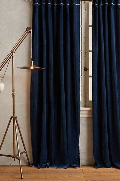 Navy Velvet Drapes - nuit silk drapes curtains half price drapes
