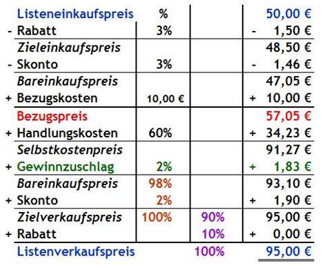 handlungskostenzuschlag berechnen handlungskostenzuschlag