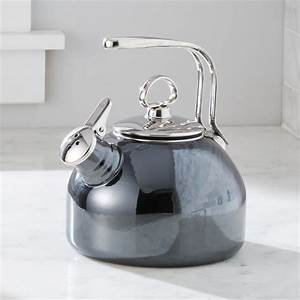 Chantal Whistling Tea Kettle In Onyx Reviews Crate And