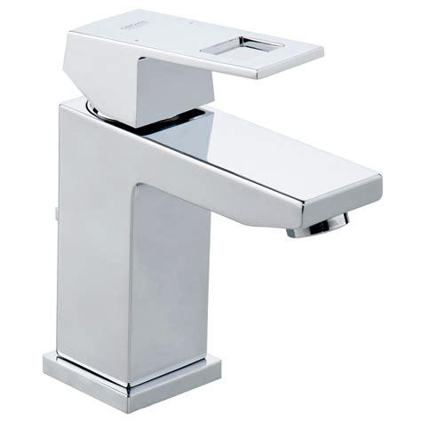 best bathroom faucet brands grohe 23127000 eurocube polished chrome one handle