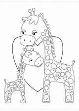 Giraffes Tulamama Sheknows Kiddos Coloringhome Bimbi Lavoretti Pach Aplique Collin sketch template