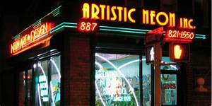 A Brief History of Neon Signs Artistic Neon Inc