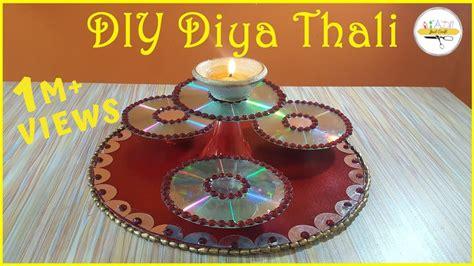 diy diya thali decorative thali msjustcraft  minute