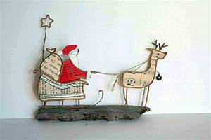 Traineau Du Pere Noel : le tra neau du p re no l by epistyle repurposed books and magazine pages christmas ~ Medecine-chirurgie-esthetiques.com Avis de Voitures