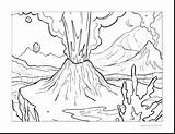 Volcano Coloring Pages Explosion Eruption Template Getcolorings Printable Getdrawings sketch template