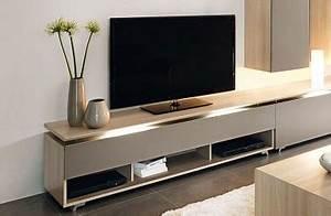 Meuble Tele Moderne : meuble tv bas taupe ~ Teatrodelosmanantiales.com Idées de Décoration