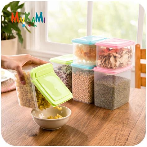 storage boxes kitchen kitchen half flip food storage box storage tank airtight 2545
