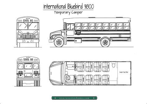 School Bu Dimension Diagram by Our A Temporary Cer