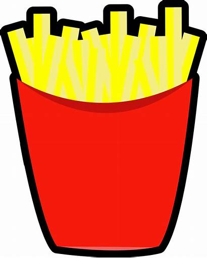 Fries French Potato Clipart Chip Chips Mcdonald