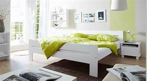 Doppelbett 180x200 Weiß : doppelbett 180x200 kiefer weiss h c m bel ~ Frokenaadalensverden.com Haus und Dekorationen