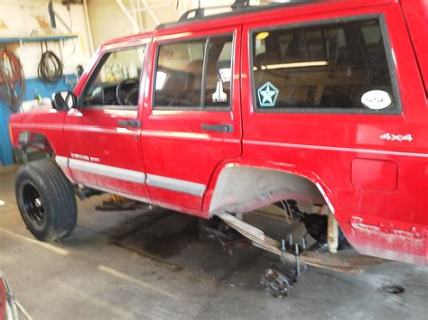 big red jeep clifford the big red jeep build jeep cherokee forum
