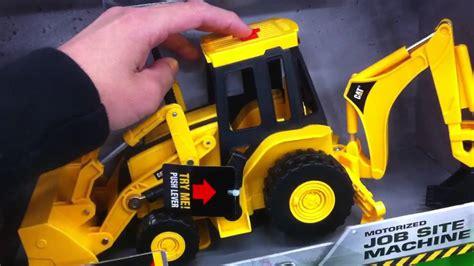 caterpillar backhoe motorized toy tractor youtube