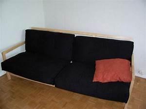 Lit Canapé Ikea : photos canap lit ikea bois ~ Teatrodelosmanantiales.com Idées de Décoration