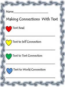 Making Text Connections Worksheet