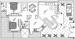 Cad Drawings Of House 2d View Floor Layout Autocad