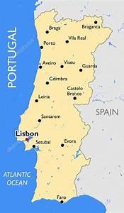 Mapa De Portugal  U2014 Vetor De Stock  U00a9 Lynx V  70395107