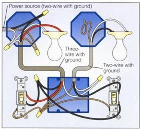2 way switch with lights wiring diagram electrical