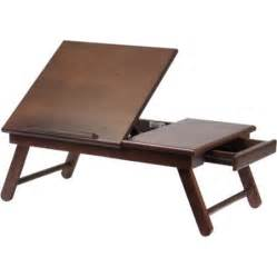alden lap desk bed tray with drawer walnut walmart com