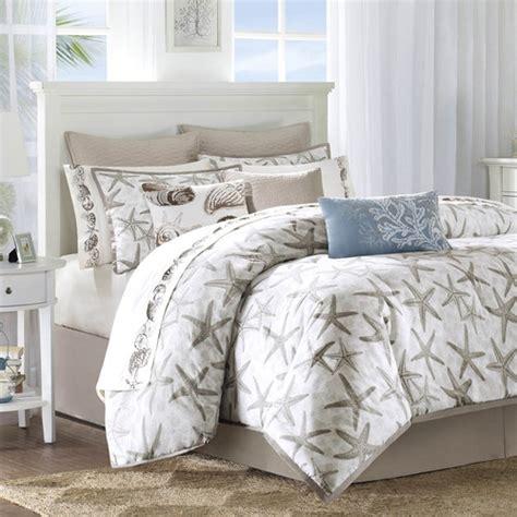 coastal bedding sets harbor house island grove brown beige slate blue