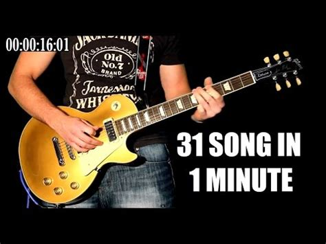 Karl Golden 31 Famous Rock Songs In 1 Minute  Guitar