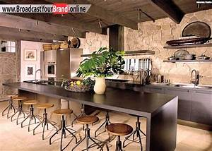 Küche Deko Modern : rustikale wandgestaltung k che einrichten ideen metallst hle bartheke youtube ~ Frokenaadalensverden.com Haus und Dekorationen