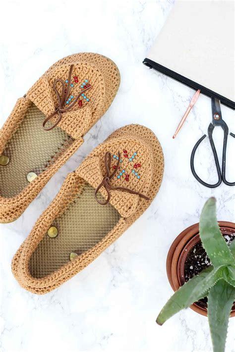 crochet moccasins  flip flop soles favecraftscom