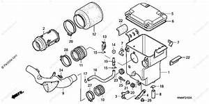 Honda Atv 2001 Oem Parts Diagram For Air Cleaner