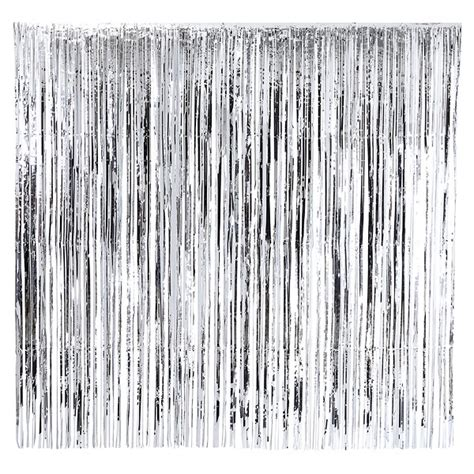Vorhänge Schwarz Silber by Bakeria Glitzer Vorhang Silber 200x200cm Lametta