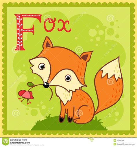 ninth letter of the alphabet stock photos images illustrated alphabet letter f and fox stock vector 27715
