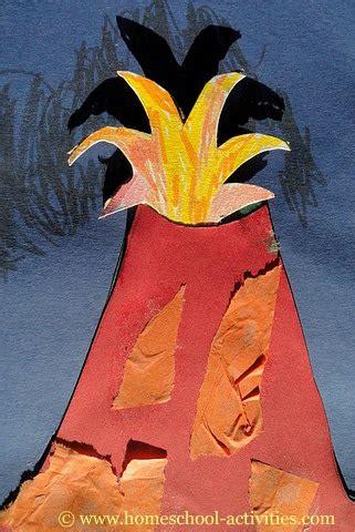 volcanoes for preschoolers kindergarten activities paper crafts for 488