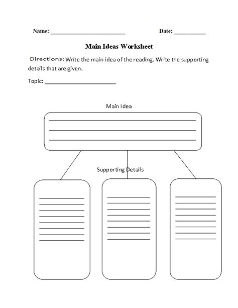 17 best images of idea and details worksheets 2nd