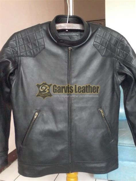 jual jaket kulit david beckham model  bahan kulit domba asli