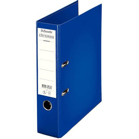 classeur bureau walmart esselte classeur à levier chromos plus 80mm bleu