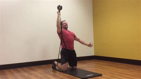 press band kettlebell overhead resistance bottoms unilateral resisted