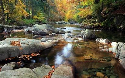 Stream Mountain Wallpapers Serene Background Nature River
