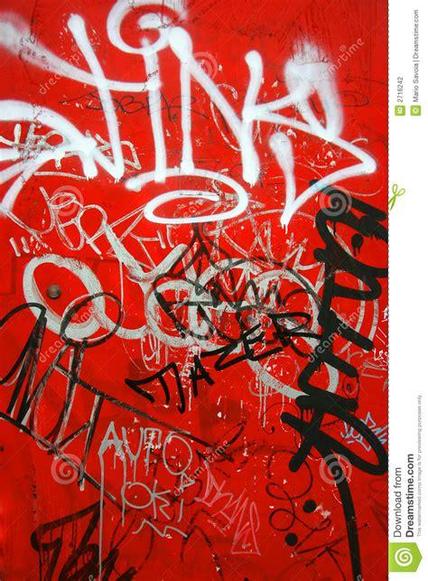 graffiti  red vertical stock photo image  suburban